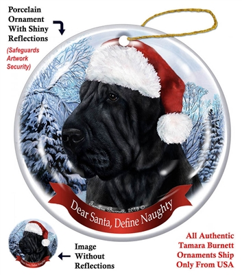 Shar Pei (Black) Holiday Ornament - Made in the USA