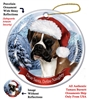 Boxer (Uncropped) Holiday Ornament - Made in the USA