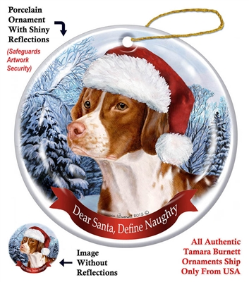 Brittany Spaniel Holiday Ornament - Made in the USA