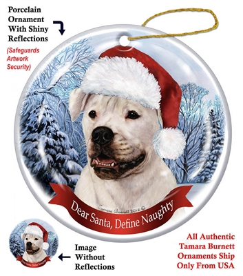 American Bulldog Holiday Ornament - Made in the USA