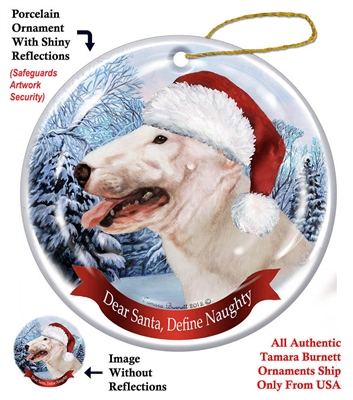 Bull Terrier (White) Holiday Ornament - Made in the USA