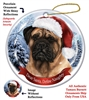 Bull Mastiff Holiday Ornament - Made in the USA