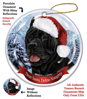Cane Corso (Black) Holiday Ornament - Made in the USA