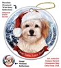 Cavachon Holiday Ornament - Made in the USA