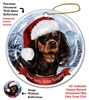 Cavalier King Charles Spaniel (Black & Tan) Holiday Ornament - Made in the USA