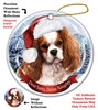 Cavalier King Charles Spaniel (Blenheim) Holiday Ornament - Made in the USA