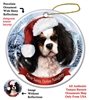 Cavalier King Charles Spaniel (Tricolor) Holiday Ornament - Made in the USA