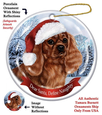 Cavalier King Charles Spaniel (Ruby) Holiday Ornament - Made in the USA