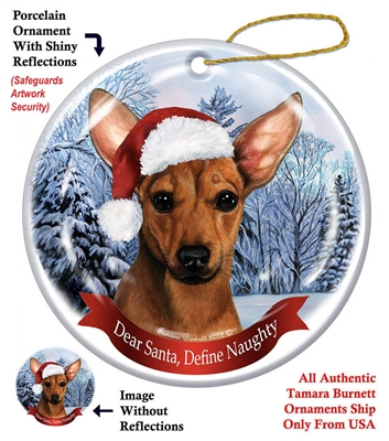 Chiweenie (Red) Holiday Ornament - Made in the USA