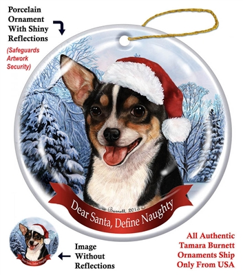 Chihuahua (Shorthair Tricolor) Holiday Ornament - Made in the USA