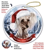 Chinese Crested Holiday Ornament - Made in the USA