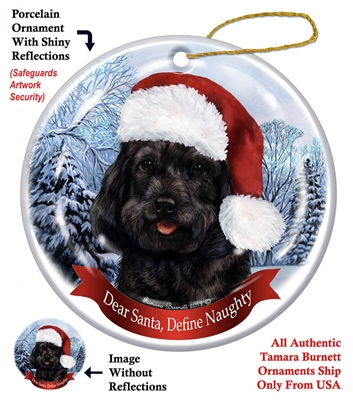 Cockapoo (Black) Holiday Ornament - Made in the USA