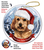Cockapoo (Buff) Holiday Ornament - Made in the USA