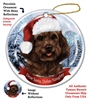 Cockapoo (Chocolate) Holiday Ornament - Made in the USA
