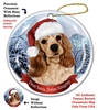Cocker Spaniel (Buff) Holiday Ornament - Made in the USA