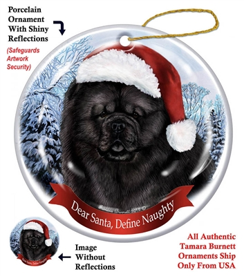 Chow Chow (Black) Holiday Ornament - Made in the USA