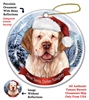 Clumber Spaniel (Orange & White) Holiday Ornament - Made in the USA