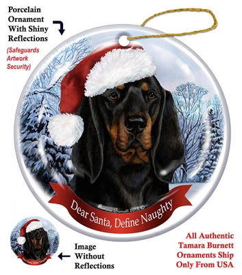 Coonhound (Black & Tan) Holiday Ornament - Made in the USA