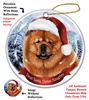 Chow Chow (Red) Holiday Ornament - Made in the USA