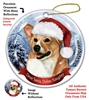 Corgi Holiday Ornament - Made in the USA