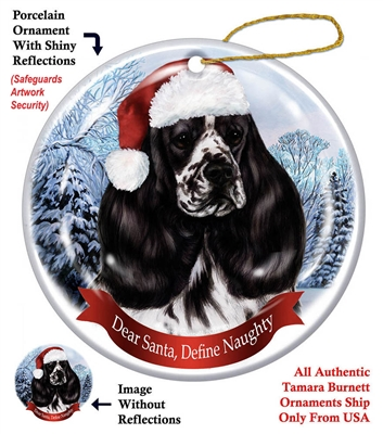 Cocker Spaniel (Parti-BW) Holiday Ornament - Made in the USA