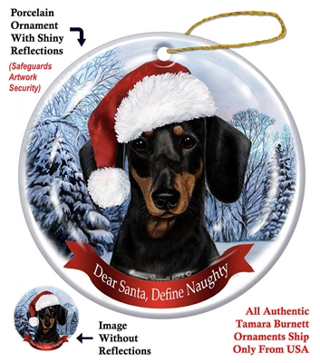 Dachshund Black & Tan Holiday Ornament - Made in the USA