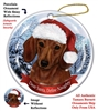 Dachshund Red Holiday Ornament - Made in the USA