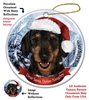 Dachshund Wirehair Black & Tan Holiday Ornament - Made in the USA