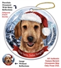 Dachshund Wirehair Wheaten Holiday Ornament - Made in the USA