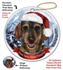 Dachshund Wild Boar Holiday Ornament - Made in the USA