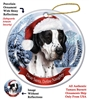 English Pointer Black Holiday Ornament - Made in the USA