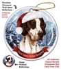English Pointer Brown Holiday Ornament - Made in the USA