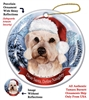 Dandie Dinmont Holiday Ornament - Made in the USA