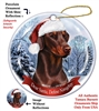 Doberman (Red) Holiday Ornament - Made in the USA