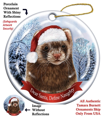 Ferret Holiday Ornament - Made in the USA
