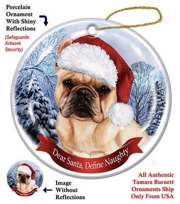 French Bulldog (Cream) Ornament - Made in the USA