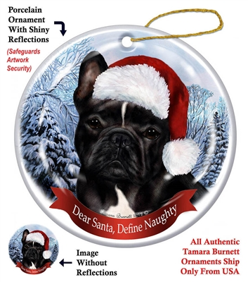French Bulldog (Black and White) Ornament - Made in the USA
