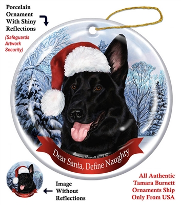 German Shepherd (Black) Ornament - Made in the USA