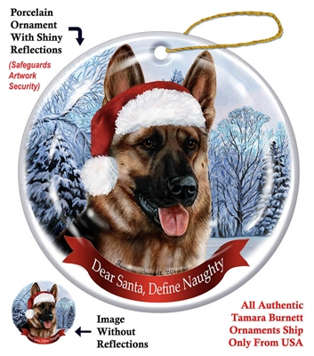 German Shepherd Ornament - Made in the USA