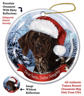 German Shorthair Ornament - Made in the USA
