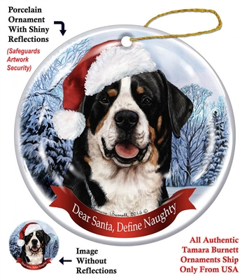 Greater Swiss Mountain Dog Ornament - Made in the USA