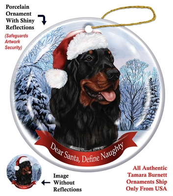 Gordon Setter Ornament - Made in the USA