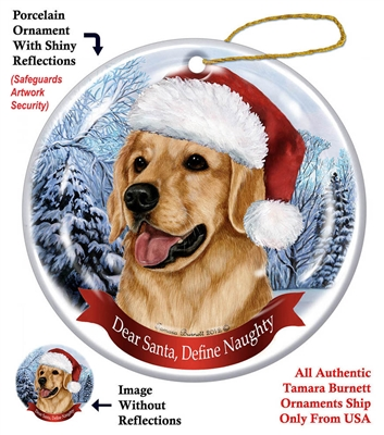 Golden Retriever Ornament - Made in the USA