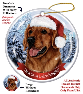 Golden Retriever (Red) Ornament - Made in the USA