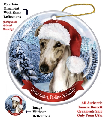 Greyhound (Fawn Brindle) Ornament - Made in the USA