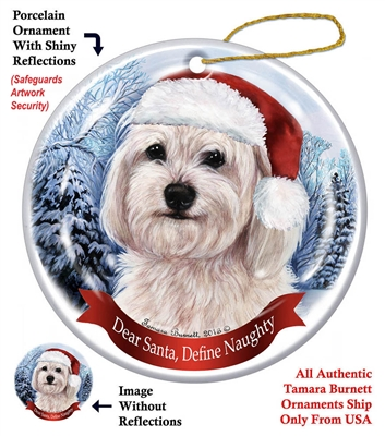 Havanese (White) Ornament - Made in the USA
