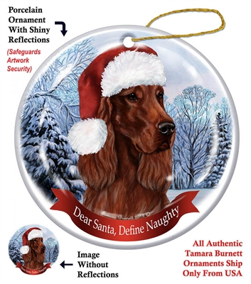 Irish Setter Ornament - Made in the USA