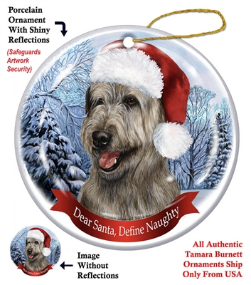 Irish Wolfhound (Grey) Ornament - Made in the USA