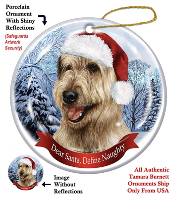 Irish Wolfhound (Wheaten) Ornament - Made in the USA