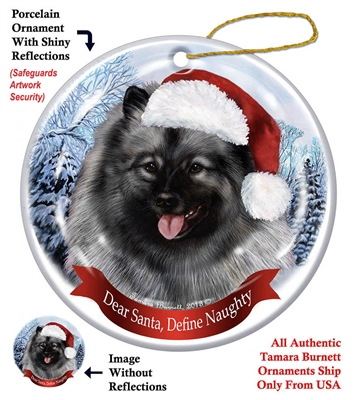 Keeshond Ornament - Made in the USA